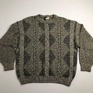Vintage Bachrach Knit Sweater Mens Medium